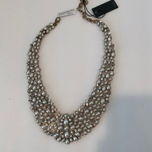 "Baublebar silver/gold crystal/""pearl"" collar neck"